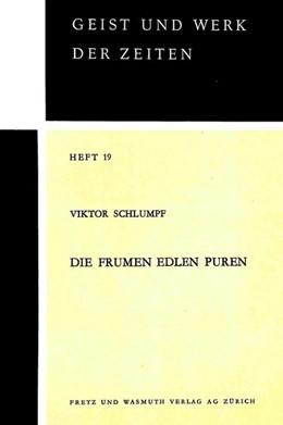 Abbildung von Schlumpf | Die frumen edlen Puren | 1969 | Untersuchung zum Stilzusammenh...