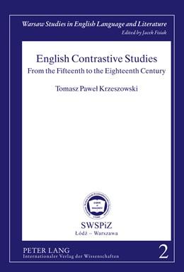 Abbildung von Krzeszowski   English Contrastive Studies   2011   From the Fifteenth to the Eigh...   2