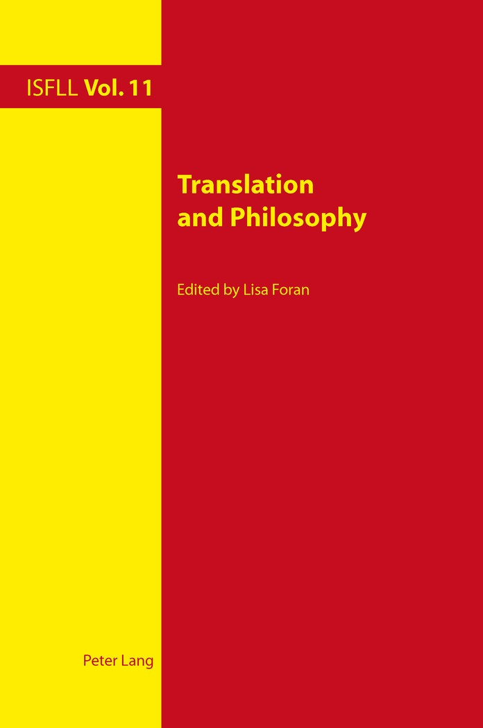 Abbildung von Foran | Translation and Philosophy | 2011