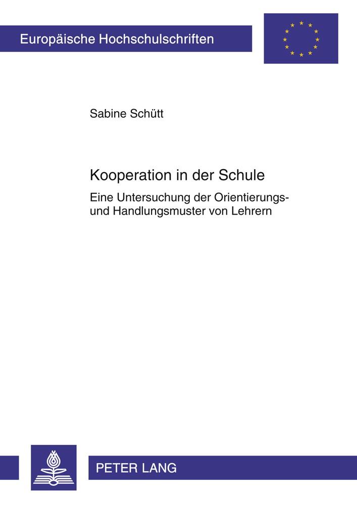 Abbildung von Schütt   Kooperation in der Schule   2011
