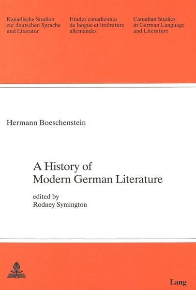Abbildung von Boeschenstein | A History of Modern German Literature | 1990