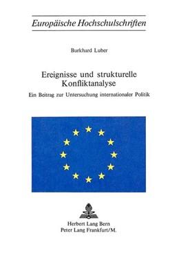 Abbildung von Luber | Ereignisse und strukturelle Konfliktanalyse | 1975 | Ein Beitrag zur Untersuchung i...