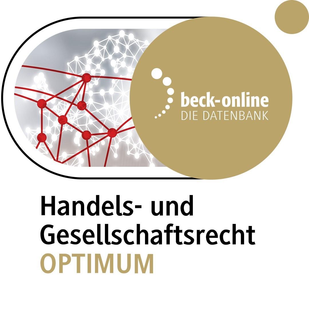 beck-online. Handels- und Gesellschaftsrecht OPTIMUM (Cover)