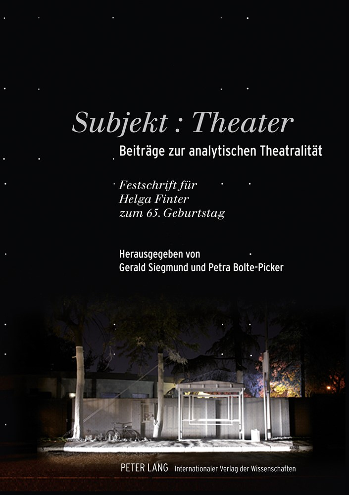Subjekt: Theater | Bolte-Picker / Siegmund, 2011 | Buch (Cover)