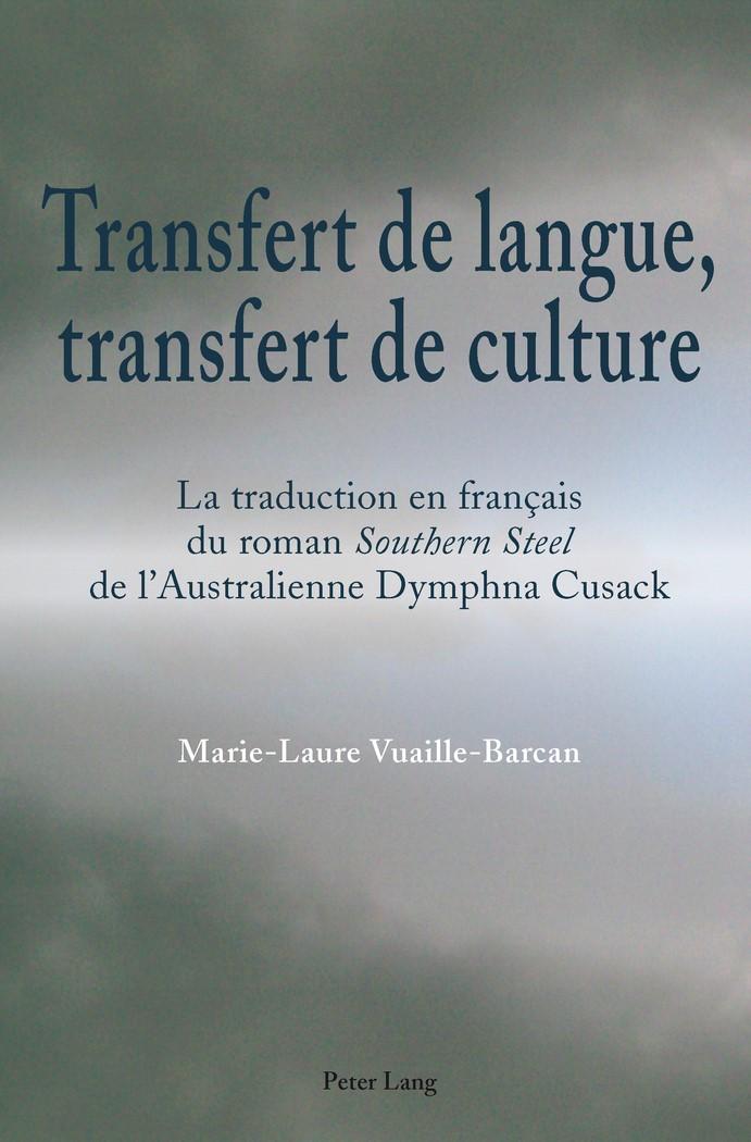Abbildung von Vuaille-Barcan | Transfert de langue, transfert de culture | 2011