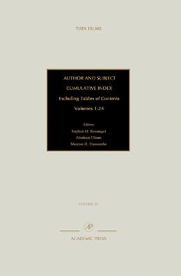 Abbildung von Author and Subject Cumulative Index, Including Tables of Contents   1998   Subject and Author Cumulative ...   25