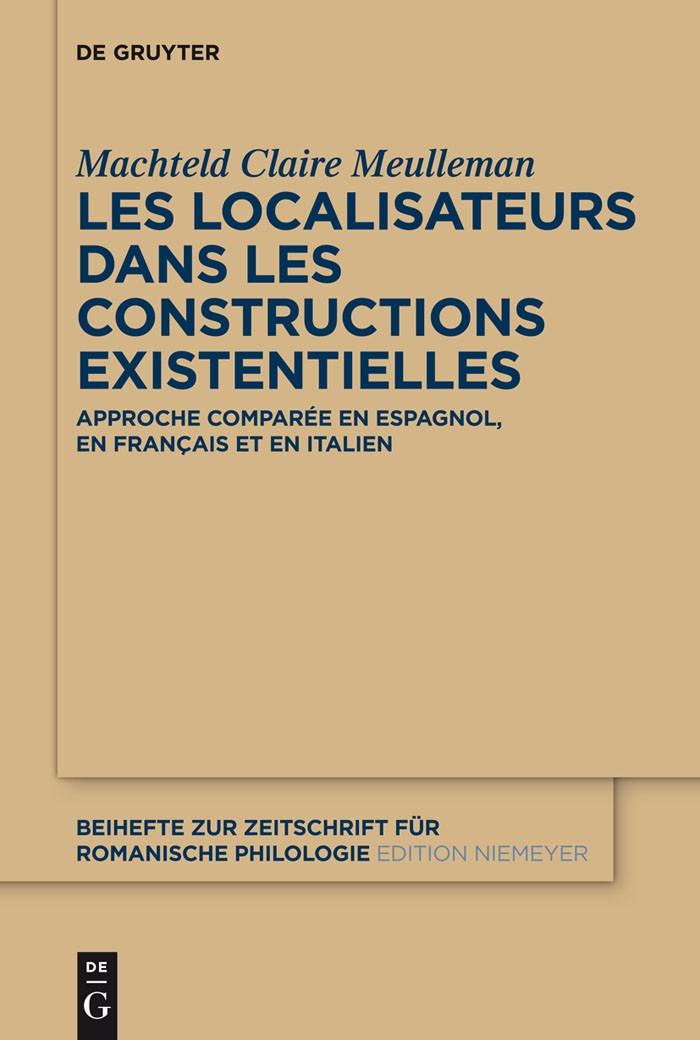 Abbildung von Meulleman | Les localisateurs dans les constructions existentielles | 2012