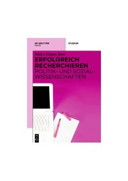 Abbildung von Bove | Erfolgreich recherchieren - Politik- und Sozialwissenschaften | 2012
