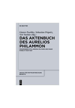 Abbildung von Poethke / Vaelske / Prignitz   Das Aktenbuch des Aurelios Philammon   2012   Prozessberichte, Annona milita...   34