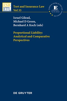 Abbildung von Gilead / Green / Koch | Proportional Liability: Analytical and Comparative Perspectives | 2013 | Analytical and Comparative Per... | 33