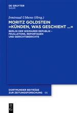 Abbildung von Ubbens | Moritz Goldstein