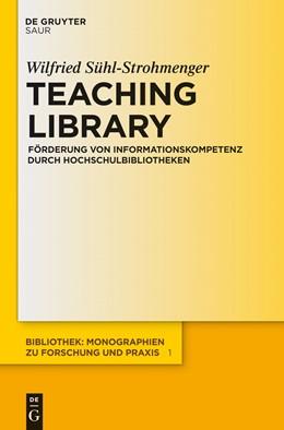 Abbildung von Sühl-Strohmenger | Teaching Library | 2012 | Förderung von Informationskomp... | 1