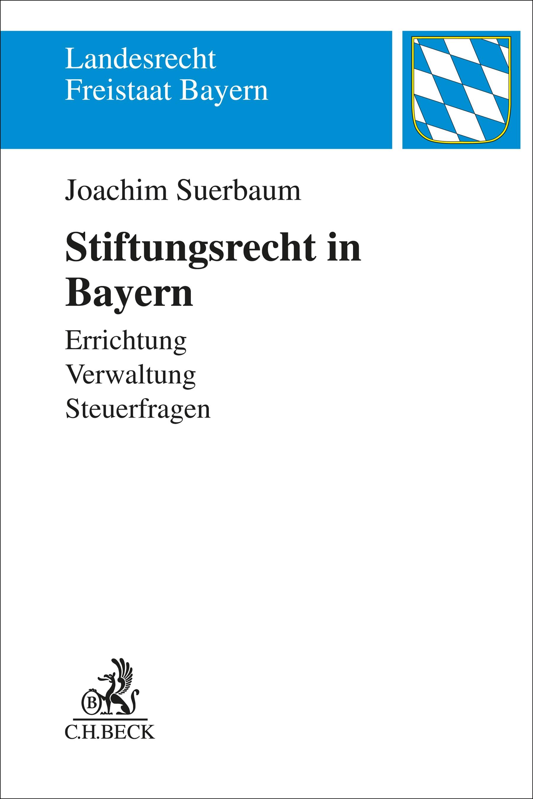 Stiftungsrecht in Bayern | Suerbaum, 2019 | Buch (Cover)
