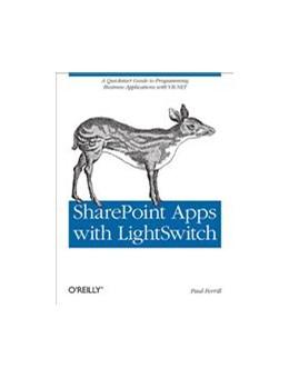 Abbildung von Paul Ferrill | SharePoint Apps with LightSwitch | 2012