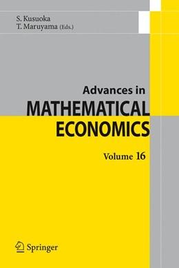 Abbildung von Kusuoka / Maruyama | Advances in Mathematical Economics Volume 16 | 2012 | Volume 16 | 16