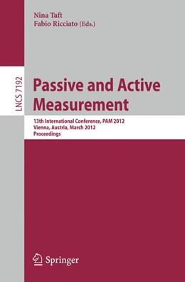 Abbildung von Taft / Ricciato | Passive and Active Measurement | 2012 | 13th International Conference,... | 7192