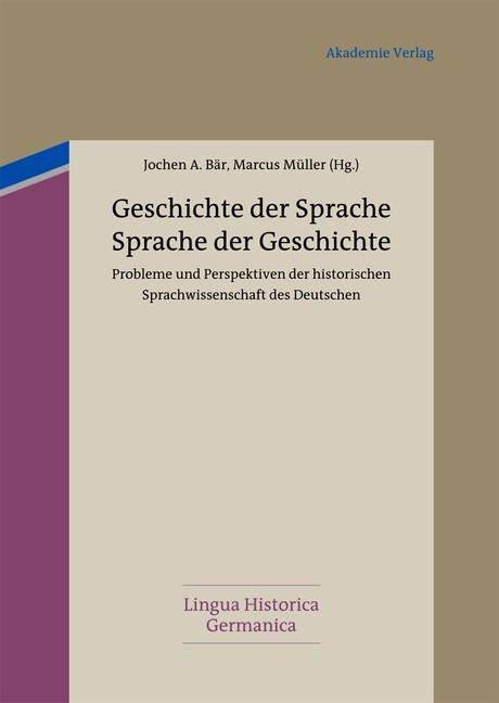 Geschichte der Sprache - Sprache der Geschichte | Bär / Müller, 2012 | Buch (Cover)