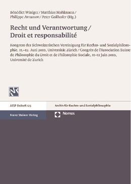 Abbildung von Winiger / Mahlmann / Avramov / Gailhofer (Hrsg.) | Recht und Verantwortung / Droit et responsabilité | 2012 | Kongress der Schweizerischen V... | 129