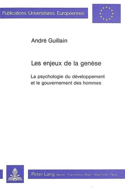 Abbildung von Guillain | Les enjeux de la genèse | 1987