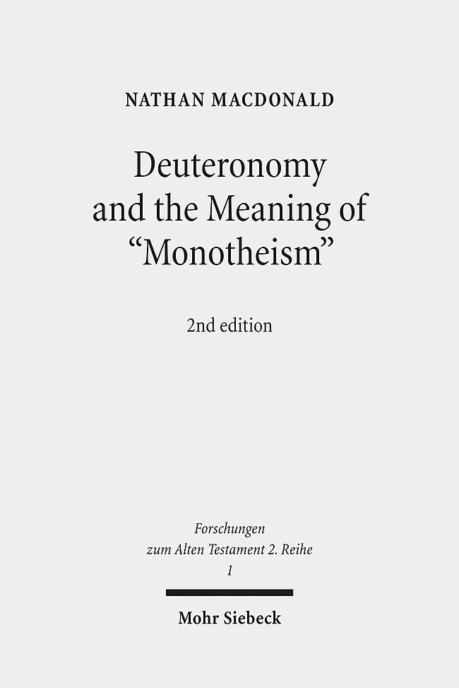 Abbildung von MacDonald | Deuteronomy and the Meaning of