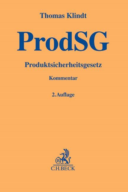 Produktsicherheitsgesetz ProdSG | Klindt | Buch (Cover)