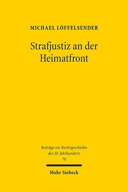 Abbildung von Löffelsender   Strafjustiz an der Heimatfront   1. Auflage 2012   2012   Die strafrechtliche Verfolgung...   70