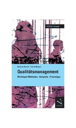Abbildung von Knecht / Negura | Qualitätsmanagement | 1. Auflage 2012 | 2013 | Wichtigste Methoden · Beispiel...