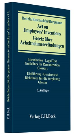 Abbildung von Reitzle / Butenschön / Bergmann | Gesetz über Arbeitnehmererfindungen = Act on Employees' Inventions | 3. Auflage | 2007 | Introduction, Legal Text, Guid...