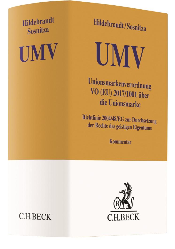 Unionsmarkenverordnung: UMV   Hildebrandt / Sosnitza, 2019   Buch (Cover)
