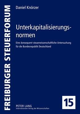 Abbildung von Knörzer | Unterkapitalisierungsnormen | 2012 | Eine konsequent-steuerwissensc... | 15