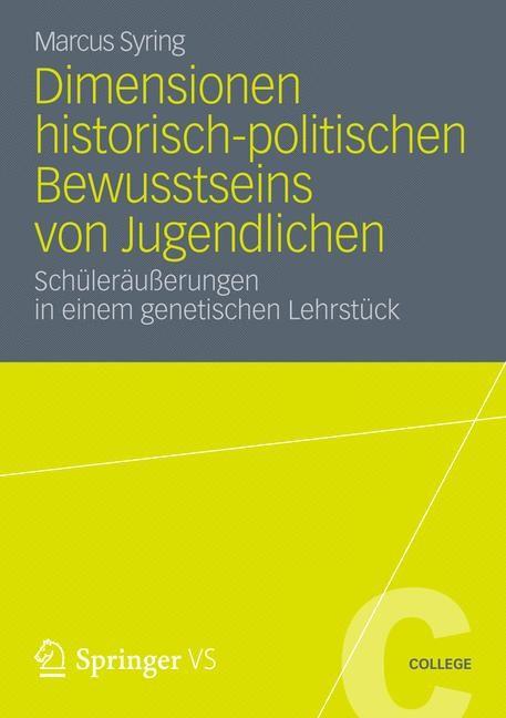 Abbildung von Syring | Dimensionen historisch-politischen Bewusstseins von Jugendlichen | 2012
