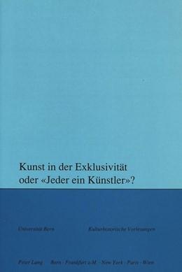 Abbildung von Svilar | Kunst in der Exklusivität oder «Jeder ein Künstler»? | 1991 | 90