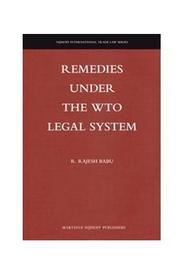 Abbildung von Babu | Remedies under the WTO Legal System | 2012 | 11