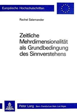 Abbildung von Salamander   Zeitliche Mehrdimensionalität als Grundbedingung des Sinnverstehens   1982   90