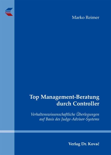Abbildung von Reimer | Top Management-Beratung durch Controller | 2012