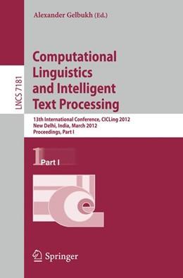 Abbildung von Gelbukh | Computational Linguistics and Intelligent Text Processing | 2012 | 13th International Conference,... | 7181