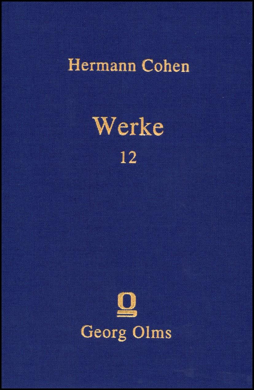 Abbildung von Cohen | Hermann Cohen: Werke | 2012 | 2012