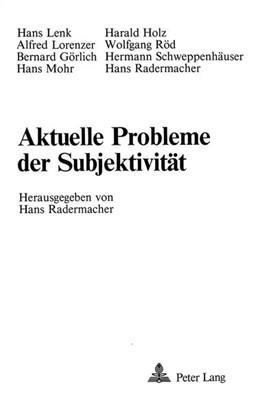 Abbildung von Radermacher | Aktuelle Probleme der Subjektivität | 1983 | 8 Beiträge