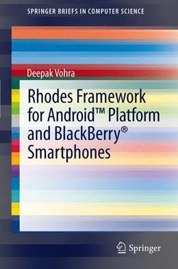 Abbildung von Vohra | Rhodes Framework for Android™ Platform and BlackBerry® Smartphones | 2012
