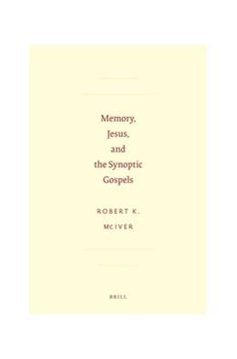 Abbildung von McIver | Memory, Jesus, and the Synoptic Gospels | 2012 | 59