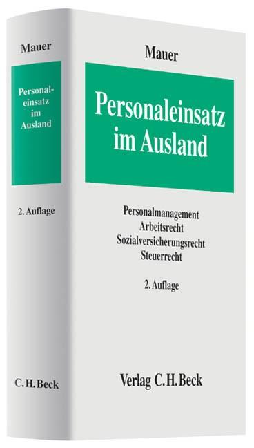 Personaleinsatz im Ausland | Mauer | 2. Auflage, 2013 | Buch (Cover)