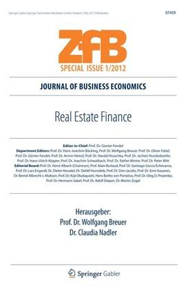 Abbildung von Breuer / Nadler | Real Estate Finance | 1. Auflage 2012 | 2012 | 0