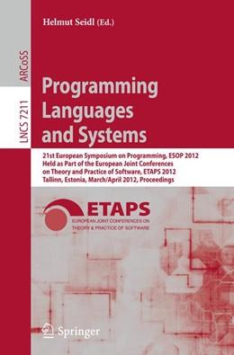 Abbildung von Seidl | Programming Languages and Systems | 2012 | 21st European Symposium on Pro...