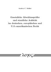 Gesetzliche Abschlussprüfer und staatliche Aufsicht im deutschen, europäischen und U.S.-amerikanischen Recht | Müller, 2012 | Buch (Cover)