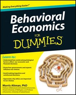 Abbildung von Altman | Behavioral Economics For Dummies | 2012