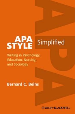 Abbildung von Beins | APA Style Simplified | 2012 | Writing in Psychology, Educati...