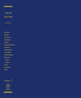 Abbildung von Organic Reactions | 2012 | Volume 77: Organic Reactions, ... | 77