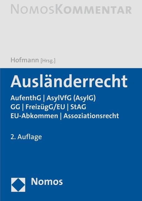 Ausländerrecht | Hofmann (Hrsg.) | 2. Auflage, 2016 | Buch (Cover)