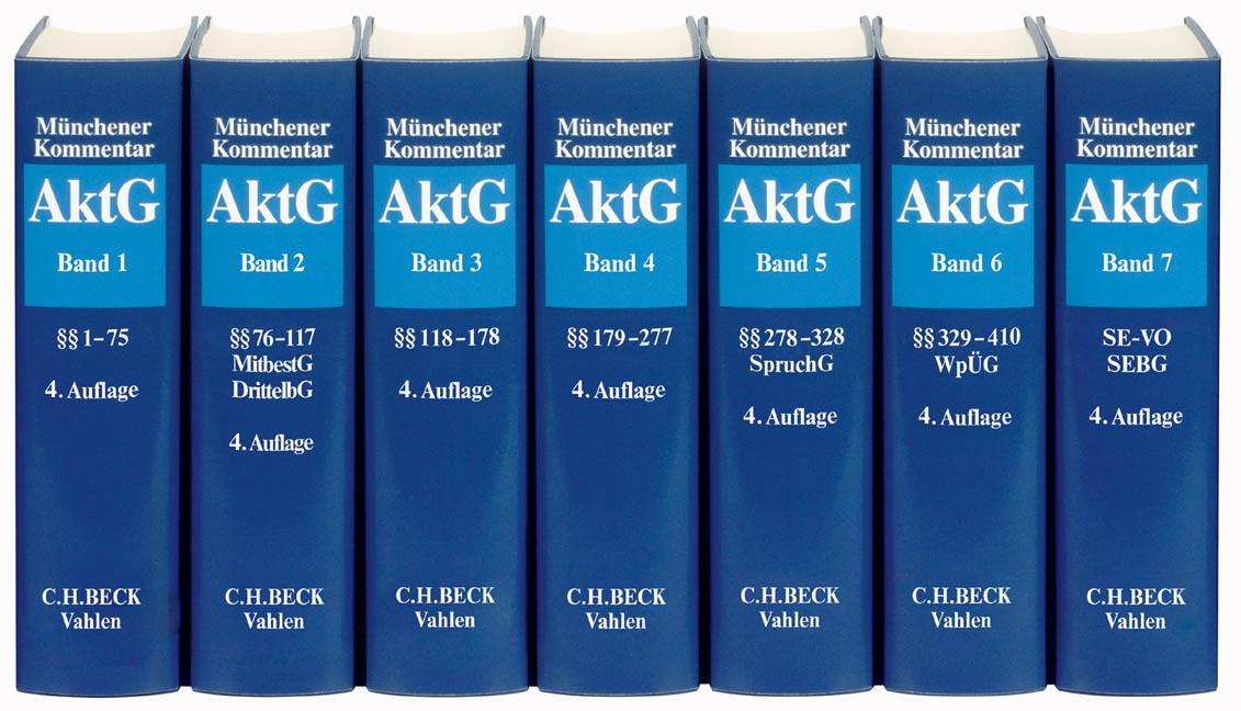 Münchener Kommentar zum Aktiengesetz: AktG | 4. Auflage, 2017 | Buch (Cover)