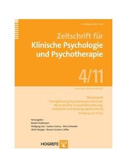 Abbildung von Lutz | Themenheft: Strengthening Psychotherapy Outcome: Neue Ansätze in Qualitätssicherung, Evaluation und Versorgungsforschung | 2012 | Themenheft der